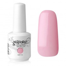 15ML GELISH SOAK OFF UV NAIL POLISH PINK SMOOTHIE (1408)