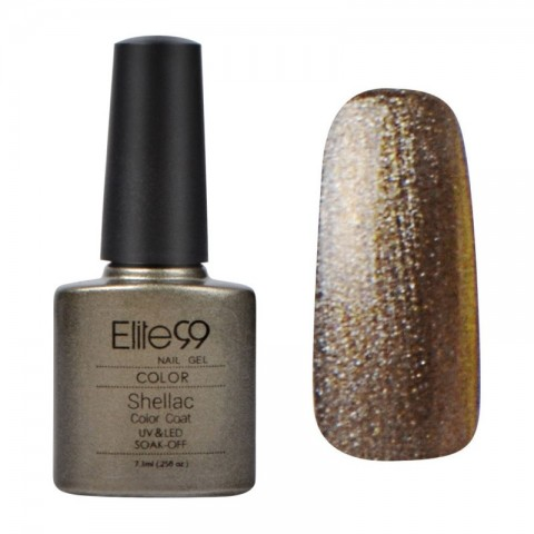 7.3ML SHELLAC UV GEL NAIL POLISH STEEL GAZE (09958)