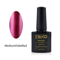 Metallic Gel Nail Polish Soak Off UV LED 5904 Medium Violet Red