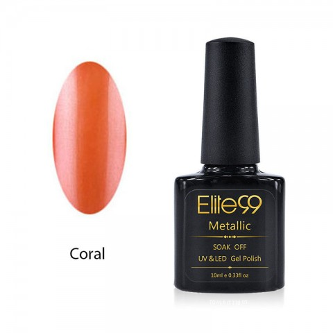 Metallic Gel Nail Polish Soak Off UV LED 5905 Coral