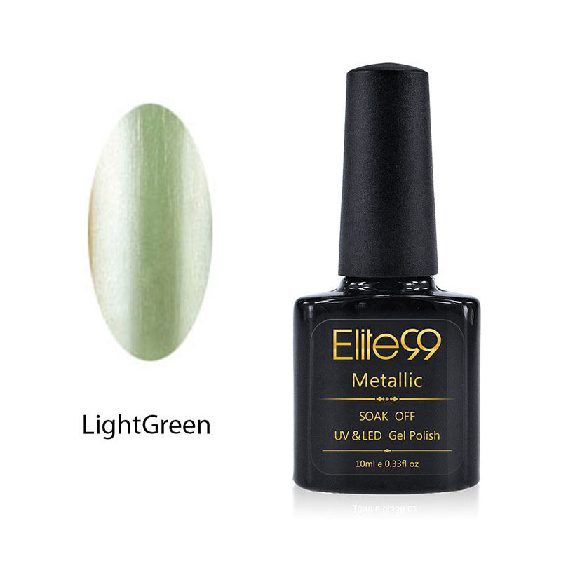 Metallic Gel Nail Polish Soak Off UV LED 5906 Light Green