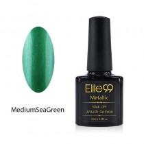 Metallic Gel Nail Polish Soak Off UV LED 5907 Medium Sea Green