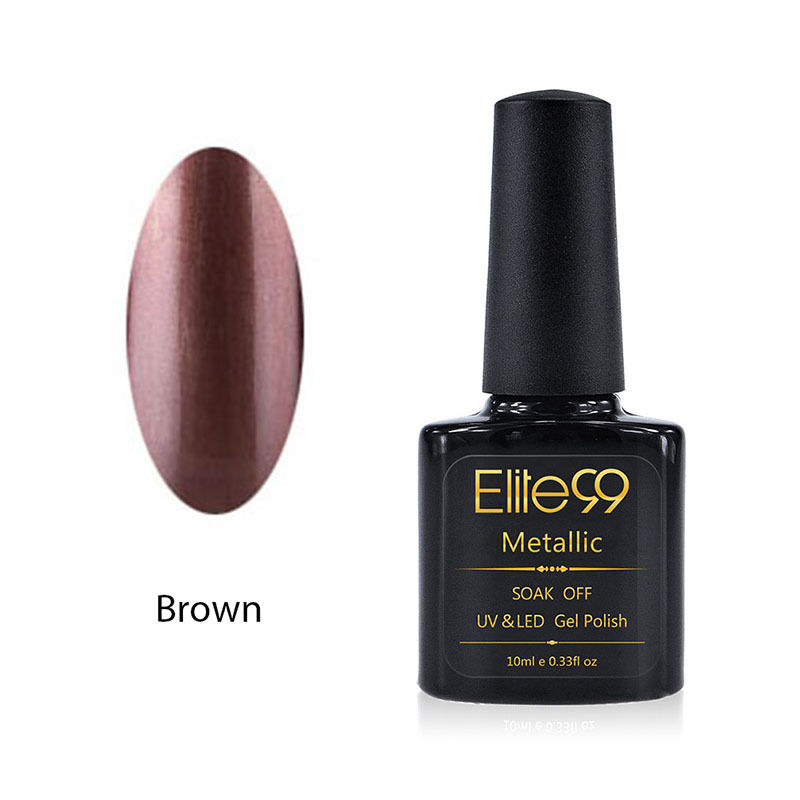 Metallic Gel Nail Polish Soak Off UV LED 5911 Brown
