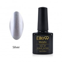 Metallic Gel Nail Polish Soak Off UV LED 5913 Silver