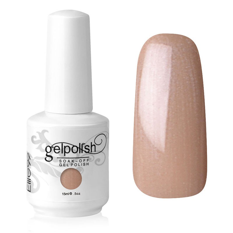 15ML GELISH UV LED NAIL ART POLISH TAUPE MODEL (1435)