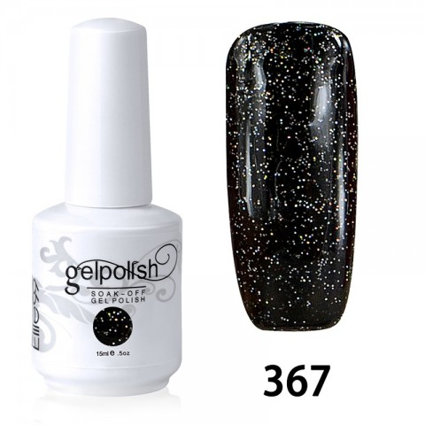 15ML SOAK OFF NAIL ART GEL POLISH BLACK(367)