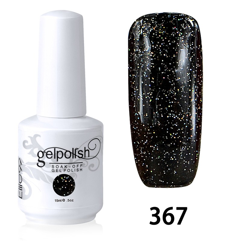 15ML SOAK OFF NAIL ART GEL POLISH BLACK(367)