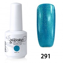 15ML SOAK OFF NAIL ART GEL POLISH BLUE(291)