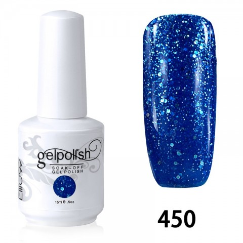 15ML SOAK OFF NAIL ART GEL POLISH BLUE(450)