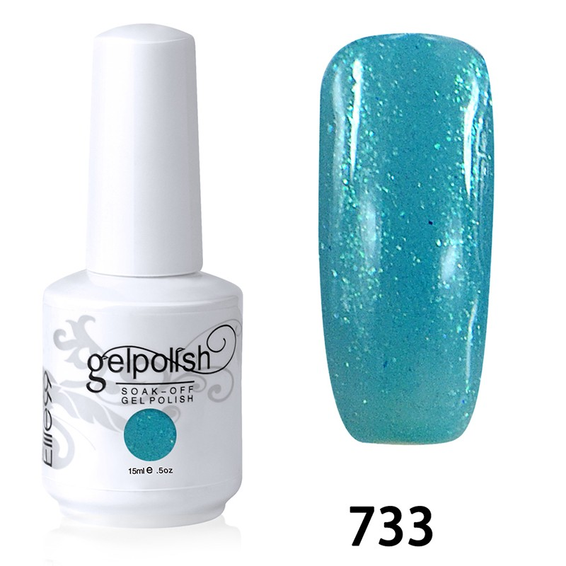 15ML SOAK OFF NAIL ART GEL POLISH GREEN(733)