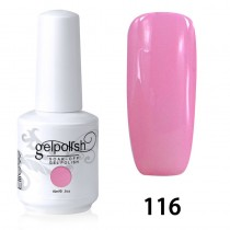 15ML SOAK OFF NAIL ART GEL POLISH PINK(116)