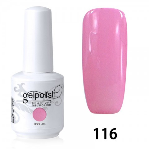 15ML SOAK OFF NAIL ART GEL POLISH PINK(116)