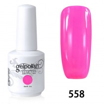 15ML SOAK OFF NAIL ART GEL POLISH RED(558)
