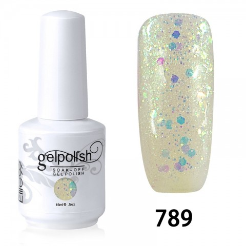 15ML SOAK OFF NAIL ART GEL POLISH WHITE(789)