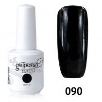 15ML SOAK OFF NAIL ART GEL POLISH BLACK(090)