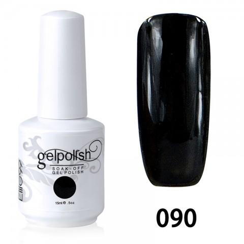 15ML SOAK OFF NAIL ART GEL POLISH BLACK(090)