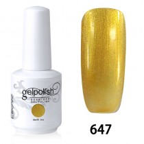 15ML SOAK OFF NAIL ART GEL POLISH GOLD(647)