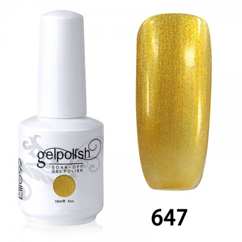 15ML SOAK OFF NAIL ART GEL POLISH GOLD(647)