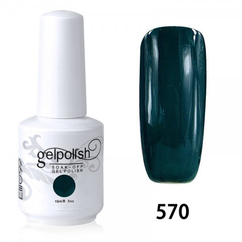 15ML SOAK OFF NAIL ART GEL POLISH GREEN(570)