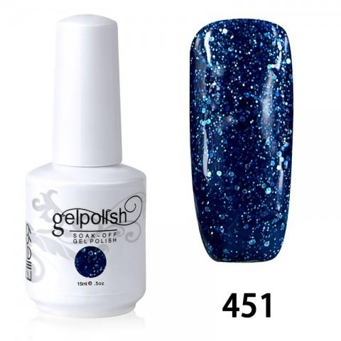 15ML SOAK OFF NAIL ART GEL POLISH NAVY BLUE(451)